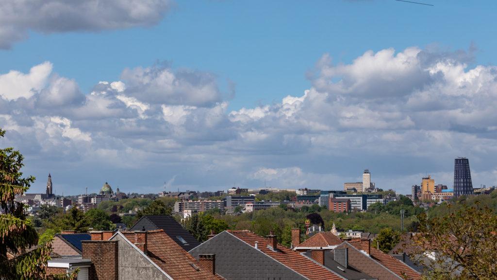 Panorama Ville de Charleroi, le Beffroi - la Basilique Saint Christophe - la Tour de Police
